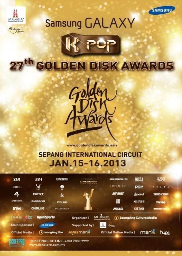 CN Blue - Liderimiz Bu Sefer de Golden Disk Awards��n Sunucular�ndan Biri Olacak ! ///10.01.2013