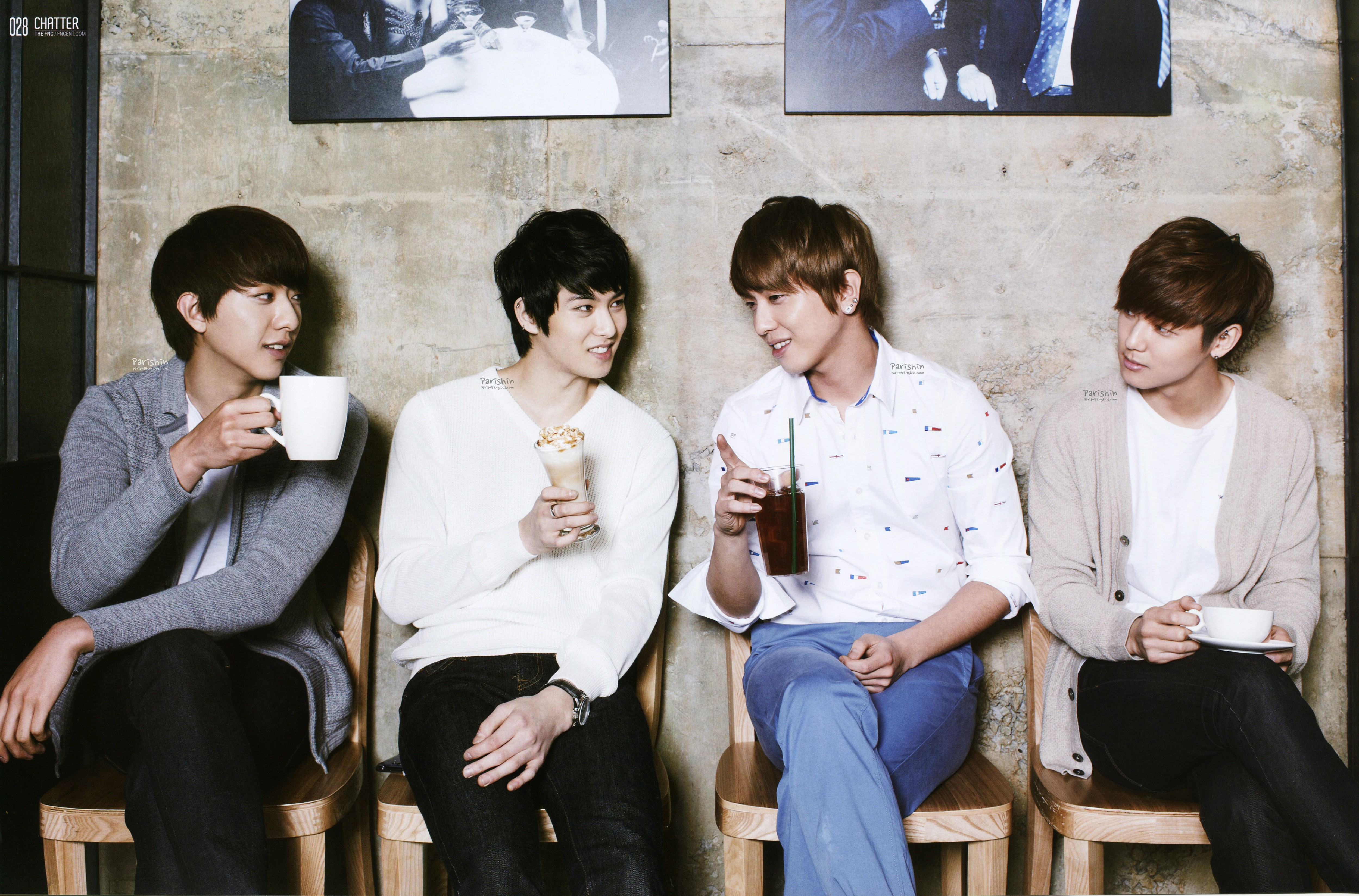 [R�PORTAJ] CN Blue - FNC Coffee Talk /// 23.07.2013