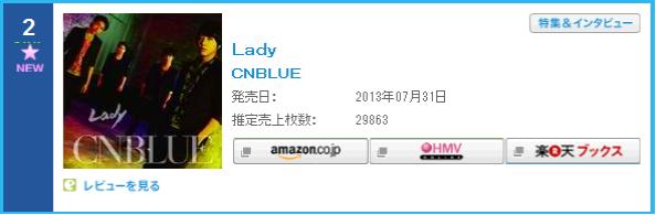 Lady Oricon Chart