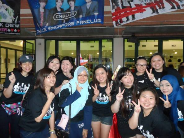 Taken during K Fever Event in Singapore. Singapore Boices will continue to support and encourage CNBLUE.