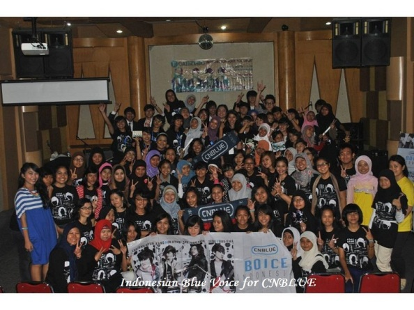 "First gathering Boice Indonesia with Tittle "" Indonesia Blue Voice for CNBLUE """