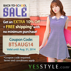 YesStyle.com Back to School Promotion