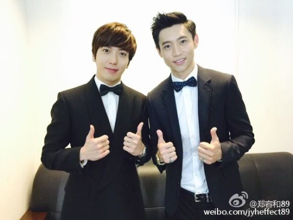 150413 weibo- yonghwa with wei chen