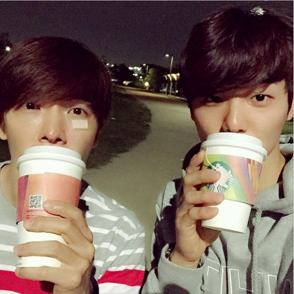150510 IG update - kang minhyuk with lee donghae