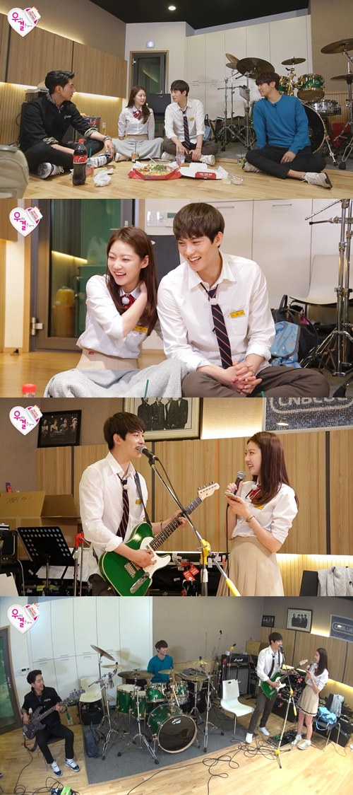150613 cnblue with wgm lee jonghyun & seungyeon
