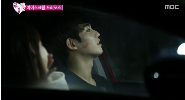 we got married - Gong Seungyeon birthday kiss to Jonghyun2