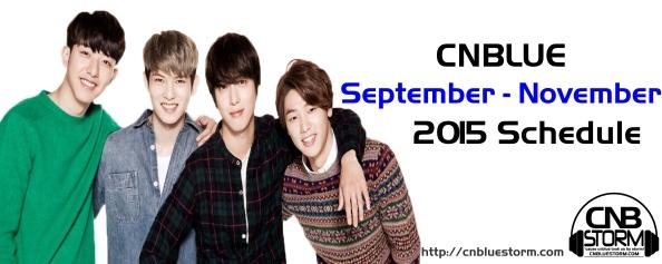 STORM - sept to november 2015 schedule